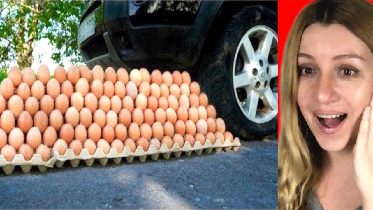 Crushing Crunchy & Soft Things by Car! - EXPERIMENT: CAR VS EGGS