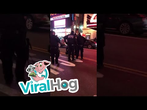 Mercedes AMG Attempts to Run Over Cop in Times Square (HD Original) || ViralHog