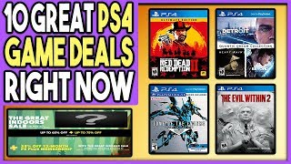 10 GREAT PS4 GAME DEALS RIGHT NOW - PSN GREAT INDOORS SALE FINALE!