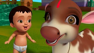 నా ప్రియమైన ఆవు - Cow Song | Telugu Rhymes for Children | Infobells