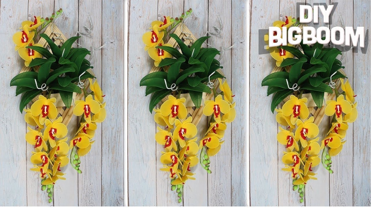 Wall decoration idea at home | Stocking flowers making | 2018 | DBB ...