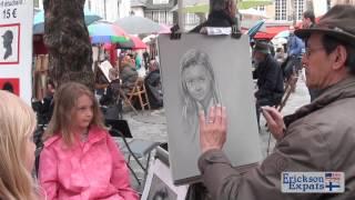 Place du Tertre Paris Portrait