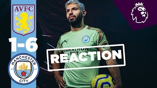 AGUERO AND PEP REACTION | ASTON VILLA 1-6 MAN CITY