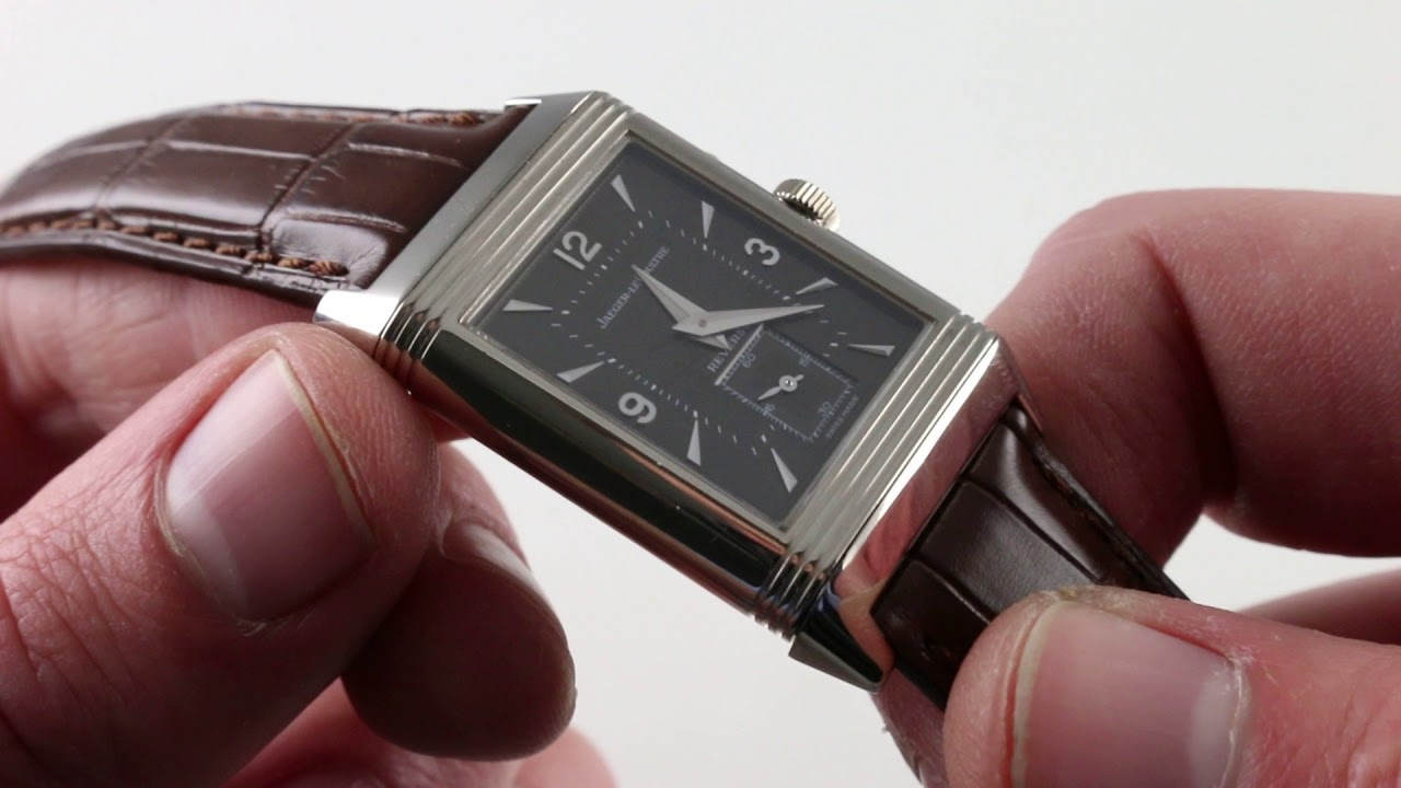 75ae26d26a01b Pre-Owned Jaeger-LeCoultre Reverso Duo 270.3.54 Luxury Watch Review ...