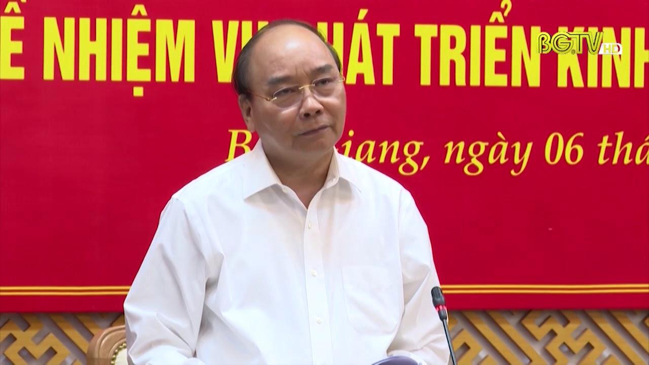 Thủ tướng Chính phủ thăm và làm việc tại tỉnh Bắc Giang