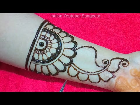 Simple Easy Arabic Mehndi Designs Full Front Hand