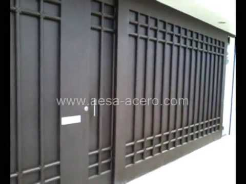 Port n contemporaneo mod pr5614 youtube for Modelos de puertas de metal modernas