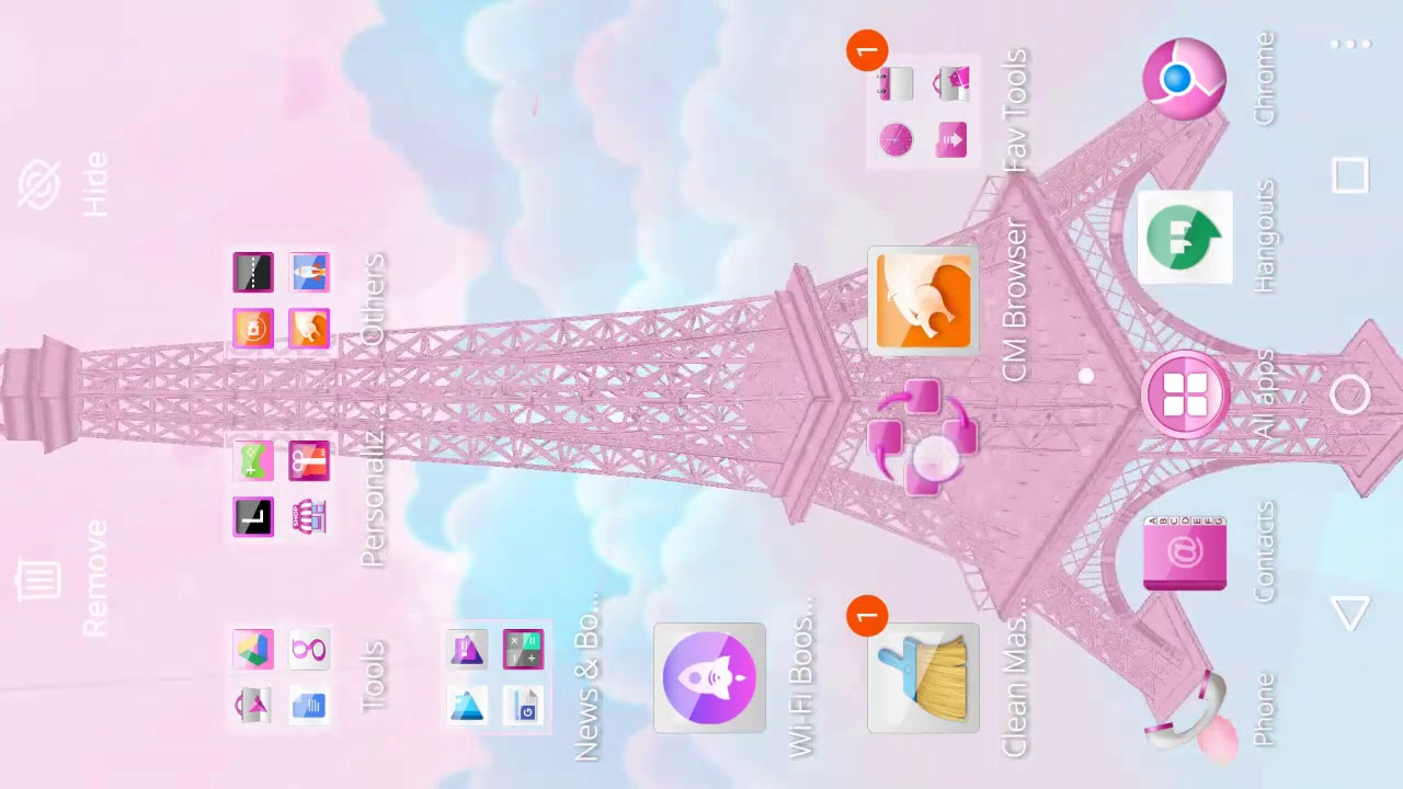 3d Pink Paris Eiffel Tower Apk 1 1 18 Free Personalization App For Android Apk4fun