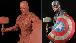 Sculpting CAPTAIN AMERICA With Mjolnir & Broken Shield | Avengers Endgame EP. 1