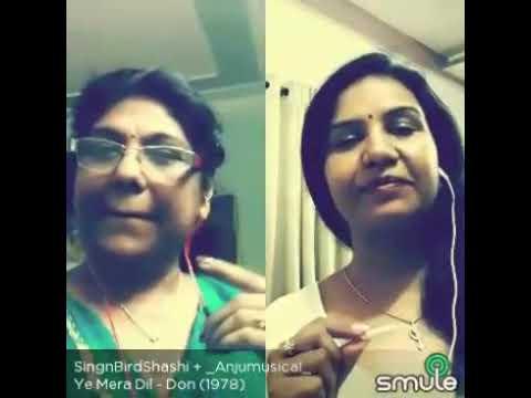 Sing smule-'Ye mera dil pyaar ka deewana 'song by Singing Bird Shashi