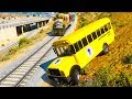 Trains Cartoon - Stop The Train With Bus