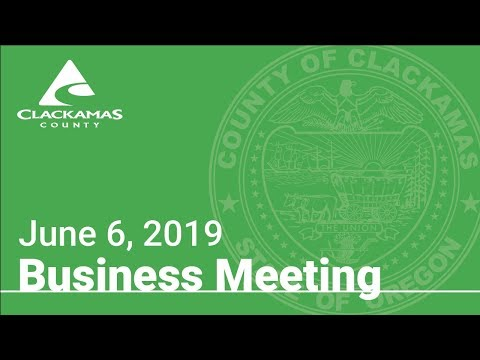 Board Of County Commissioners' Meeting June 6, 2019