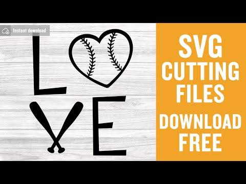 Love Baseball Free Svg Sport Svg Baseball Heart Svg Instant Download Shirt Design Free Vector Files Mom Svg Softball Svg Png Dxf 0198 Freesvgplanet
