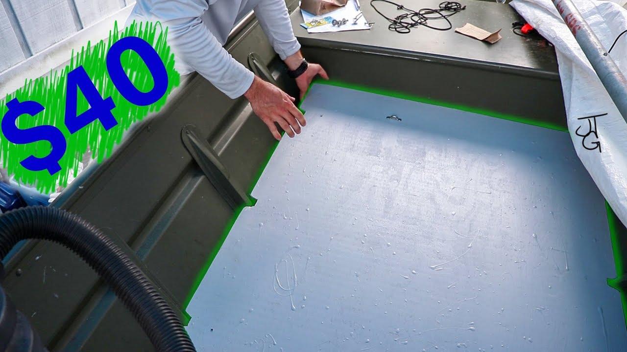 Jon Boat Floor Paint Amp Install Part3 Youtube