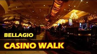 Walking through the Bellagio Hotel & Casino in Las Vegas - Nov 2016 - 4K HD