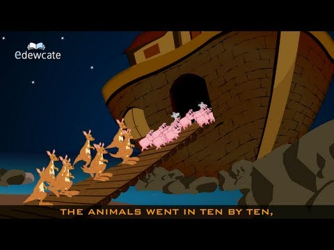 Edewcate english rhymes - The animals went in two by two nursery rhyme
