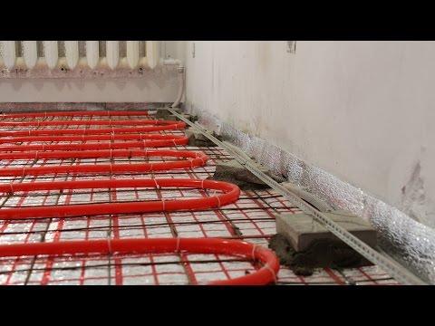 видео: Водяной теплый пол своими руками. Часть 3. Как сделать стяжку