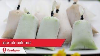 Hướng dẫn cách làm kem túi tuổi thơ nhiều vị - Ice Cream in a Bag | Feedy VN