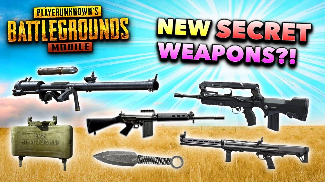10 SECRET WEAPONS That NEED to Be in PUBG Mobile! (New Update Secrets)