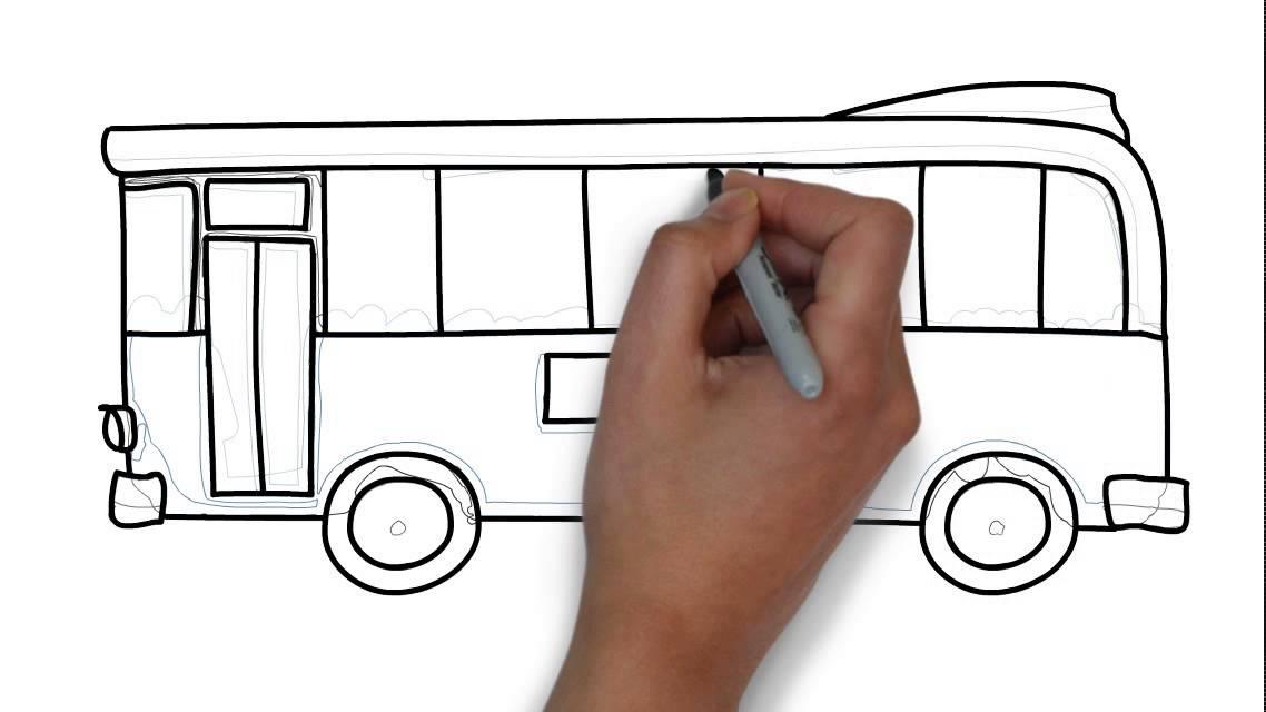 Cómo dibujar un autobús - YouTube