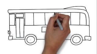 Cómo dibujar un autobús