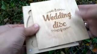 Коробочка для диска. Хранение свадебных фото и видео.