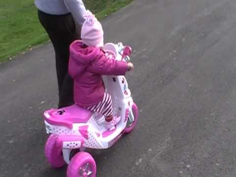 Ciara On Her Minnie Mouse Scooter Youtube