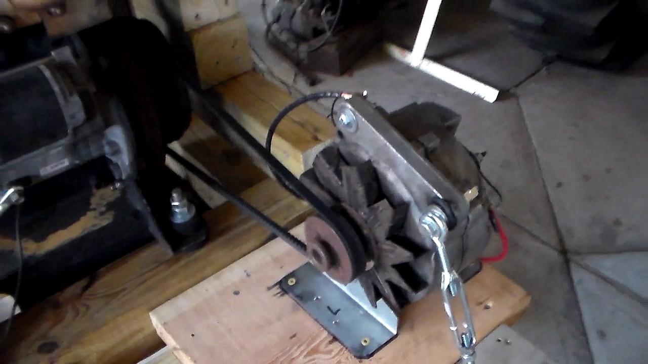 Yanmar Fuel Consumption Test - Chrysler Alternator - YouTube