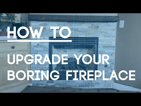 How To Tile a Fireplace Wall - Upgrade Your Boring Fireplace with Natural Stone