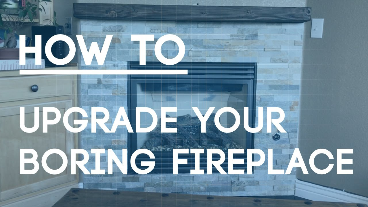 How To Tile a Fireplace Wall - Upgrade Your Boring Fireplace with ...
