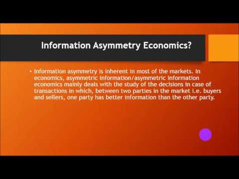 Asymmetric Information | Economics