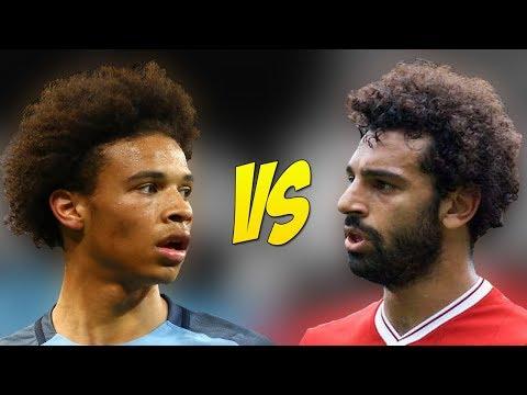 Mohamed Salah VS Leroy Sane - Who Is The Fastest Player? - 2017