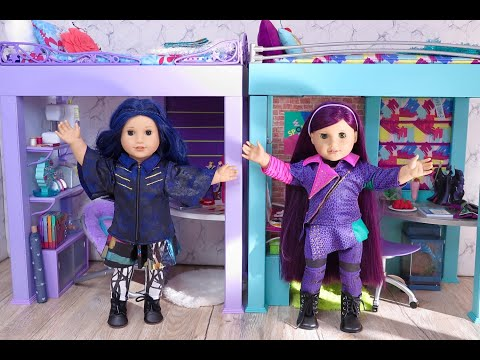 Doll Bedroom For Disney Descendants 3 Mal & Evie ~ Play And Dress Up In Doll Room!