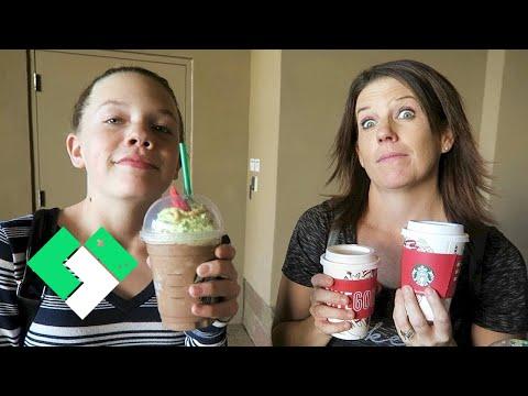 Trying A Starbucks Christmas Tree Frappuccino