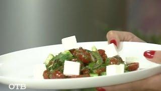 Завтрак на скорость: ленивый греческий салат (02.10.15)