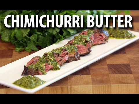 Grilled Hanger Steak and Bacon Chimichurri Butter Sauce|  - BIG MEAT SUNDAY