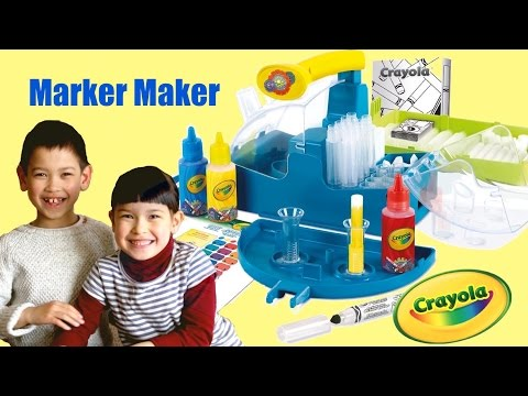 Crayola Marker Maker play Kit - Kids made their own own color markers at home Easy DIY