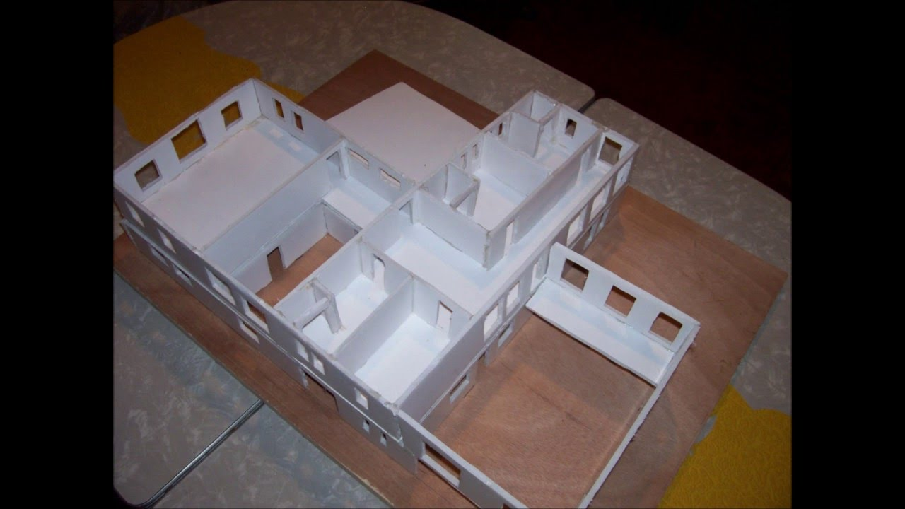 Building Foam Board Models Making House Scale Model Part