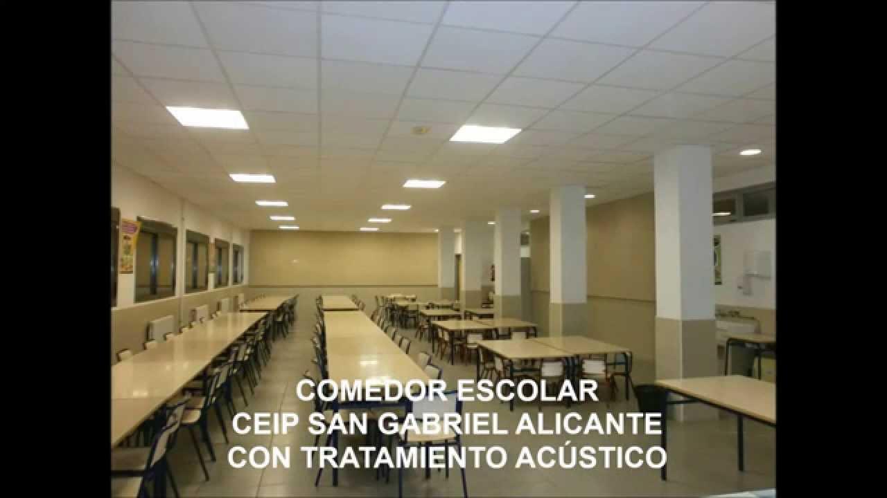 Cómo reducir el ruido en un comedor escolar de Alicante - YouTube