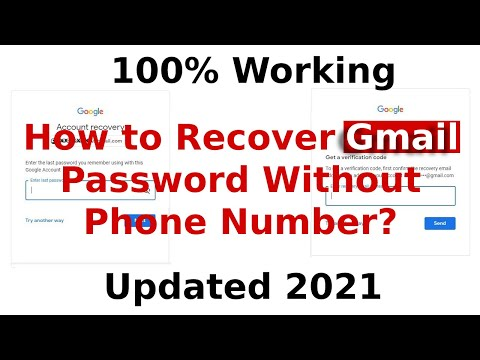 How To Recover Gmail Account Password Without Phone Number | Google Account Password Recovery | 2020