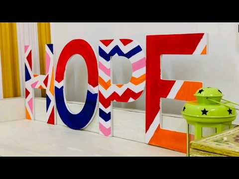 Easy Fun Diy on wooden letters | Giftstyle India
