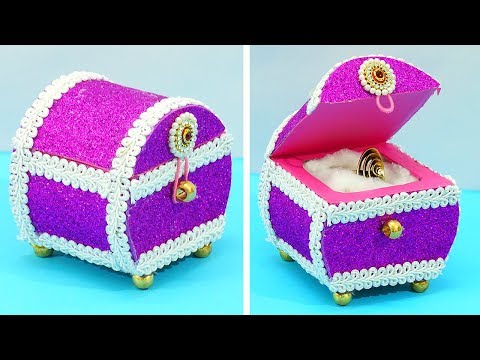"""Cardboard/Tape Roll Changes into Beautiful """"Wedding Ring Box"""" 