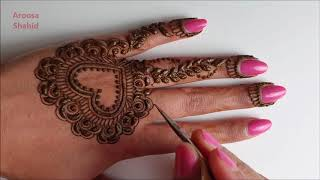 Most stylish Henna design for Valentines day