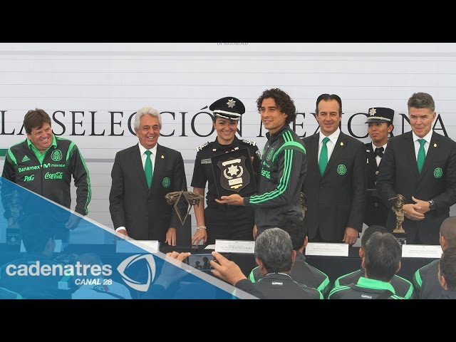Reconocimiento de la Policía Federal a la Selección Mexicana de fútbol