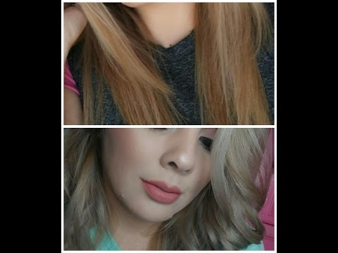 How i tone my hair || wella t18 & 050 grey hair