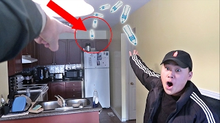 IMPOSSIBLE WATER BOTTLE FLIP TRICK SHOTS!!