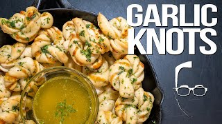 CHEESY BUTTERY SPICY GARLIC KNOTS | SAM THE COOKING GUY 4K
