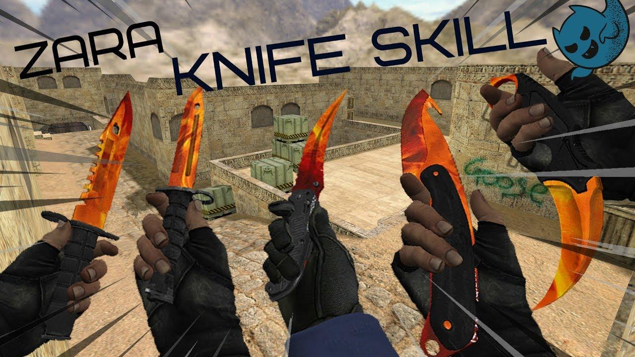CS 1.6   Zara   PUBLIC   Режем кабанчиков Knife Skill =) Отборный Фарш Counter Strike 1.6