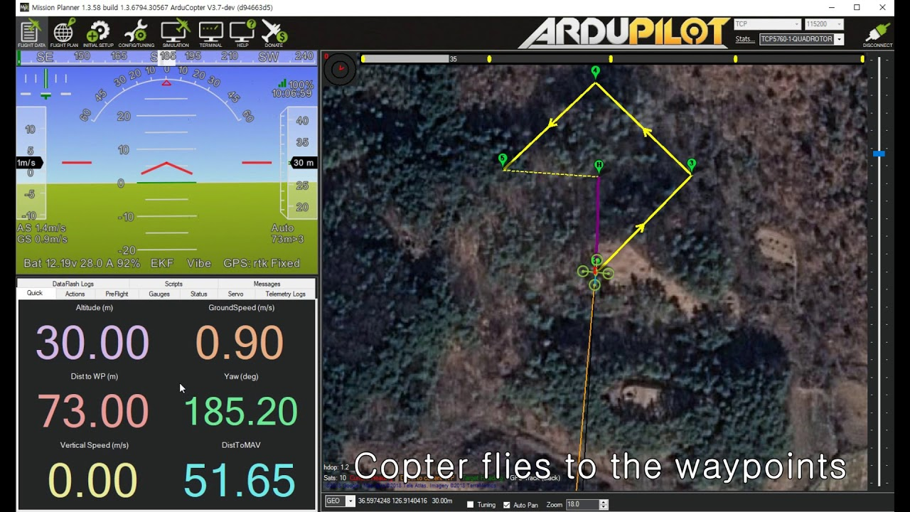 ArduCopter SITL (Software in the Loop) with Mission Planner