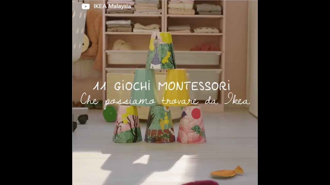 11 Giochi Montessori Reperibili All Ikea Youtube